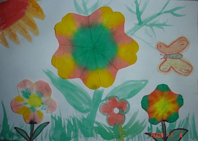 幼儿园秋天的大树美术作品