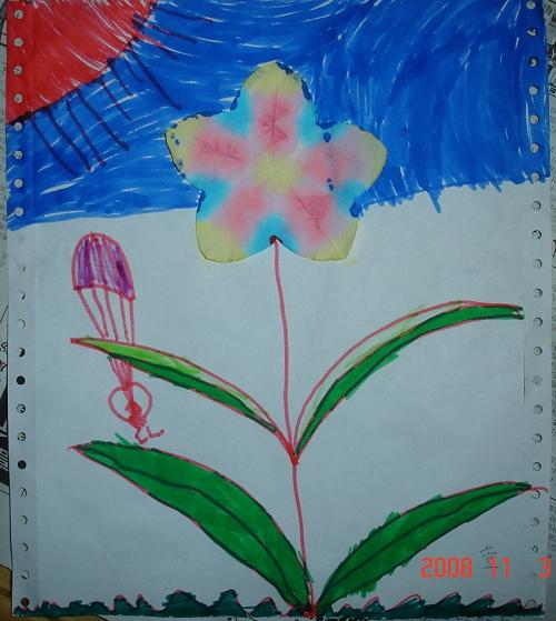 幼儿光盘手工制作花