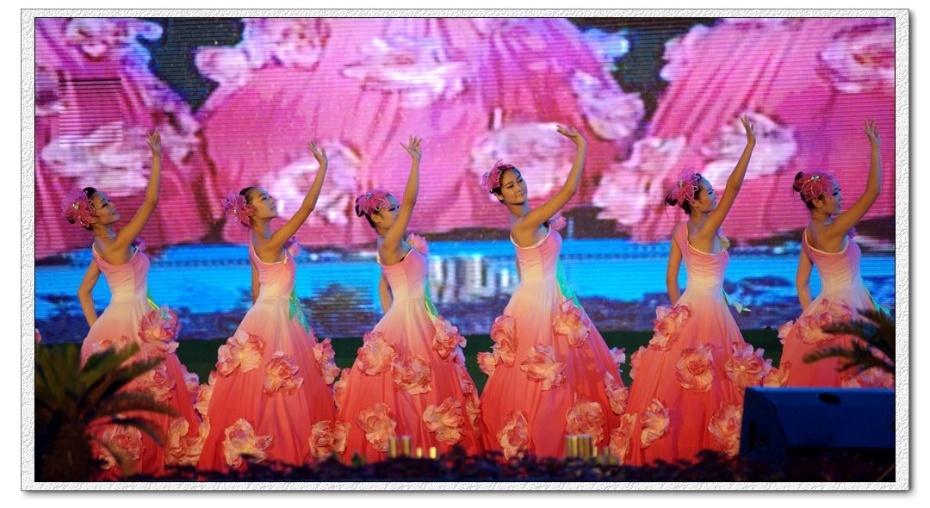 """本届荷花节的文化大餐,""""荷都放歌""""大型文艺晚会于当晚上演。晚会在江苏舞之魂歌舞团舞蹈《美在金湖》拉开帷幕"""