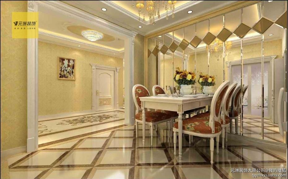 龙潭公馆180平米欧式风格案例--设计师:高晓庆