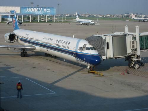 西北行(7)第一次坐飞机(看大雁塔)