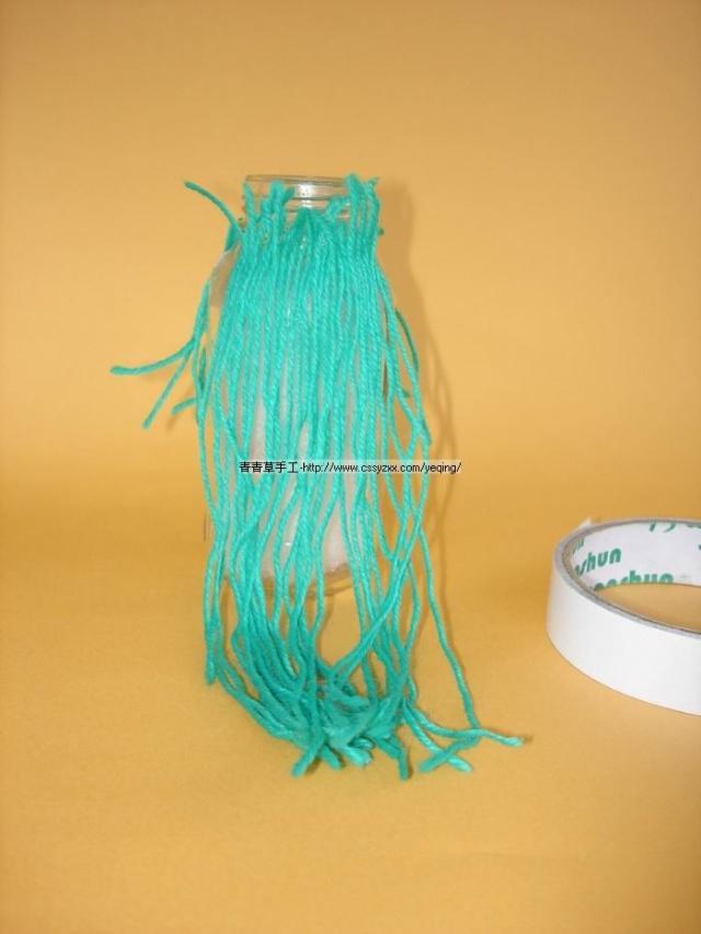 幼儿园瓶子毛线