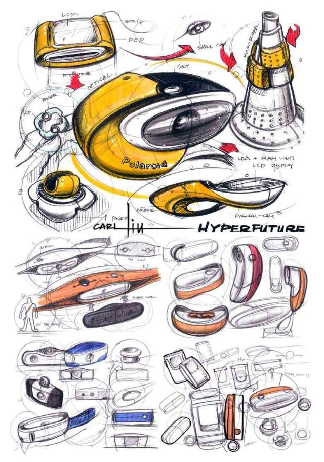 马克笔多彩产品手绘图