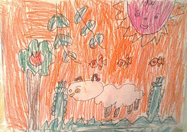 儿童画《小羊》 - 狗小妈妈的博客