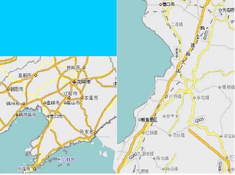 听人劝吃饱饭,改道营口鲅鱼圈.地理位置一看地图便知了.