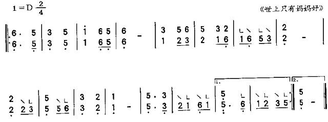 简单的古筝入门曲谱
