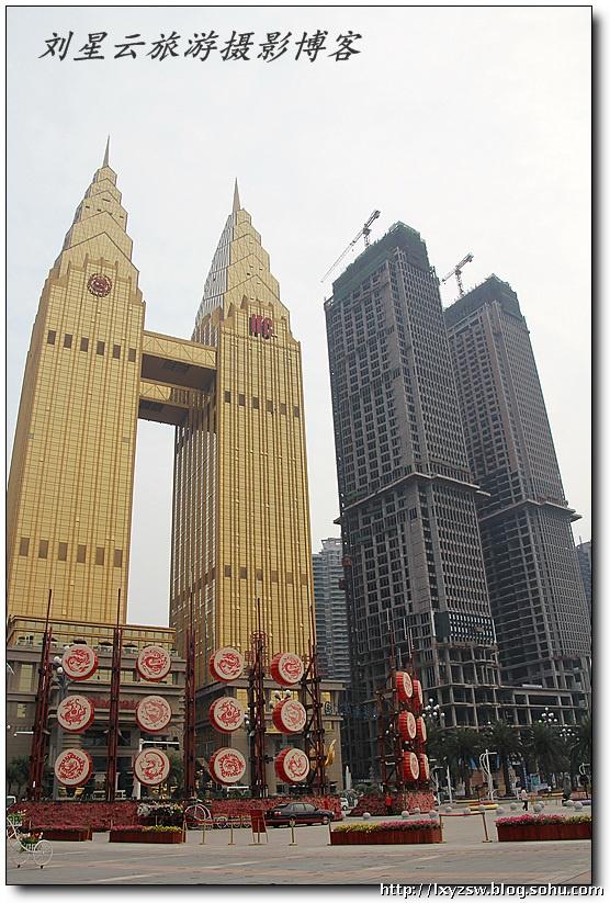 重庆地标性建筑黄金双塔特摄