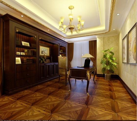 欧式客卧兼书房设计装修效果图大全