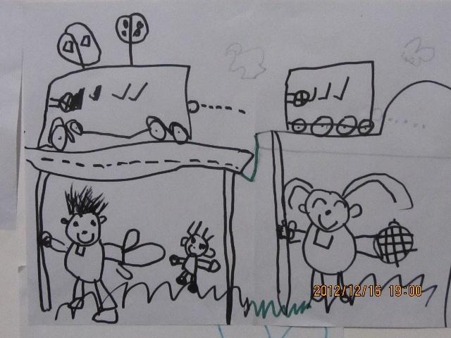 烟囱的烟简笔画-航宝画画图片