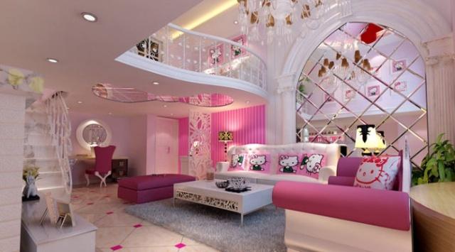 9.2万打造100平米复式简欧风格-- 客厅效果图