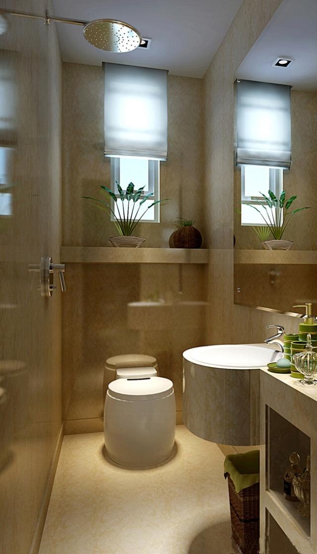现代简约 卫生间装修-实创装饰效果图