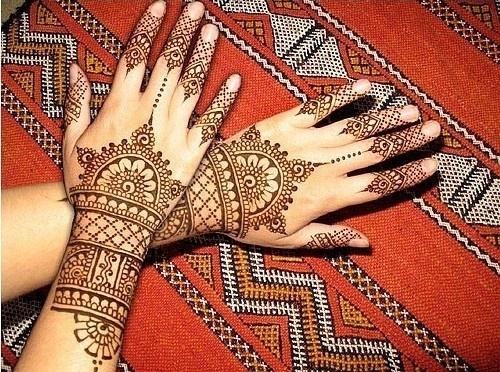印度手绘图案手背图案