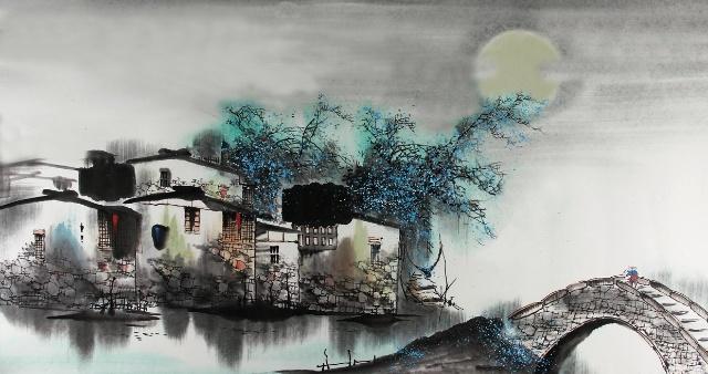 小桥流水江南情------赏江南水乡古镇水墨画