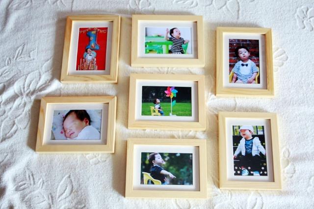 小坏猪的周岁相册和照片墙