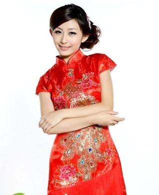 旗袍新娘发型 古典有韵味