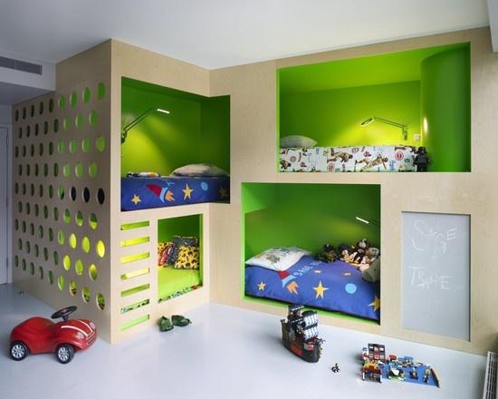儿童房上下铺家居装修设计效果图 元洲装饰 北京最好的装修公