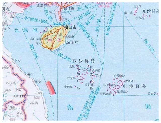 中国南海诸岛地图