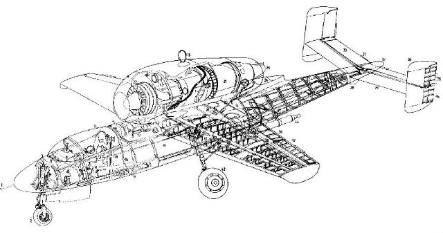 德国飞机剖视图
