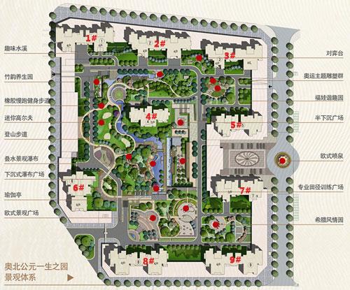 居住区组团绿地规划设计平面图