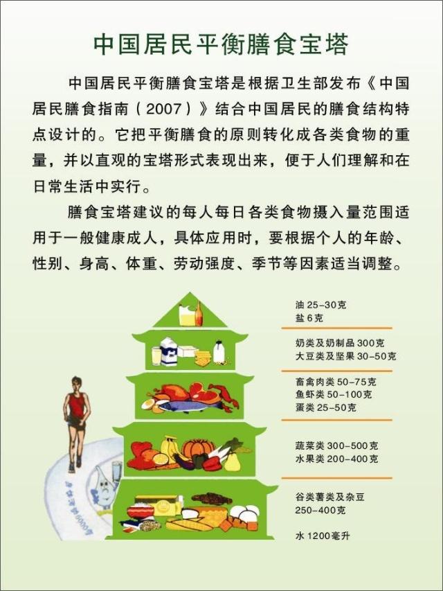 [营养]中国居民膳食宝塔