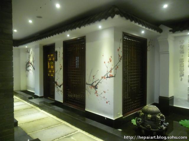 郑州手绘壁画手绘背景墙古建彩绘人体彩绘-手绘壁画