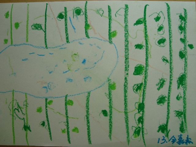 活动指导: (一)故事:《春天来了》,欣赏范例: (二)教师示范,幼儿观察