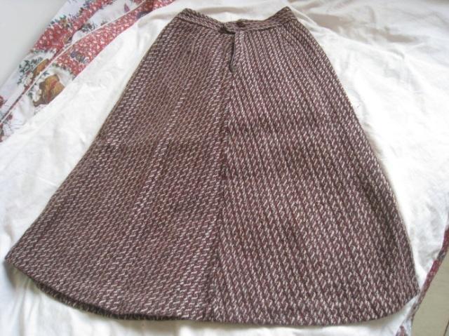 绒绒线短裙编织图解