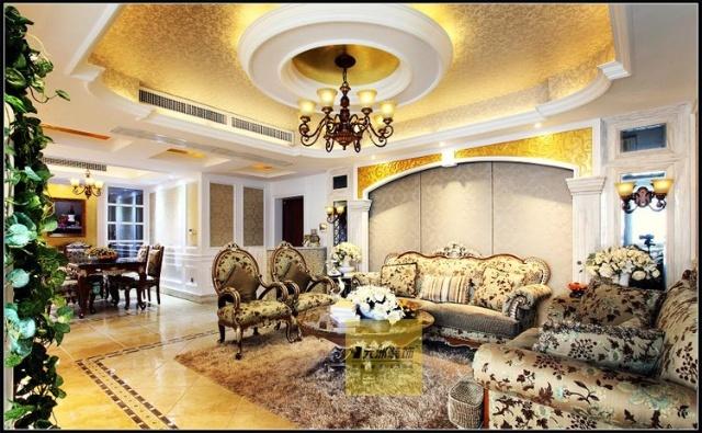 200平米跃层复式新古典奢华风格装修设计实景案例