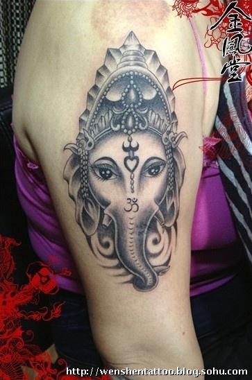 大象纹身 英文纹身 臂环纹身 手指纹身