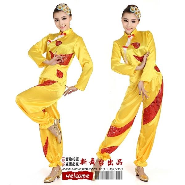蒙古服装恰恰舞服装13910845195现代爵士舞服装新款秧歌服