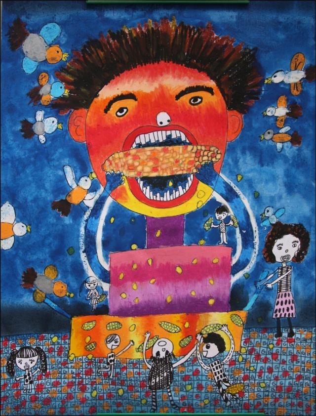 儿童画玉米油画棒