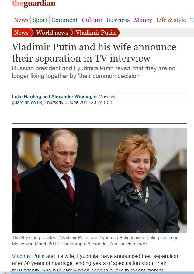 普京到底离婚没有? - 詹晟 - 詹晟的博客
